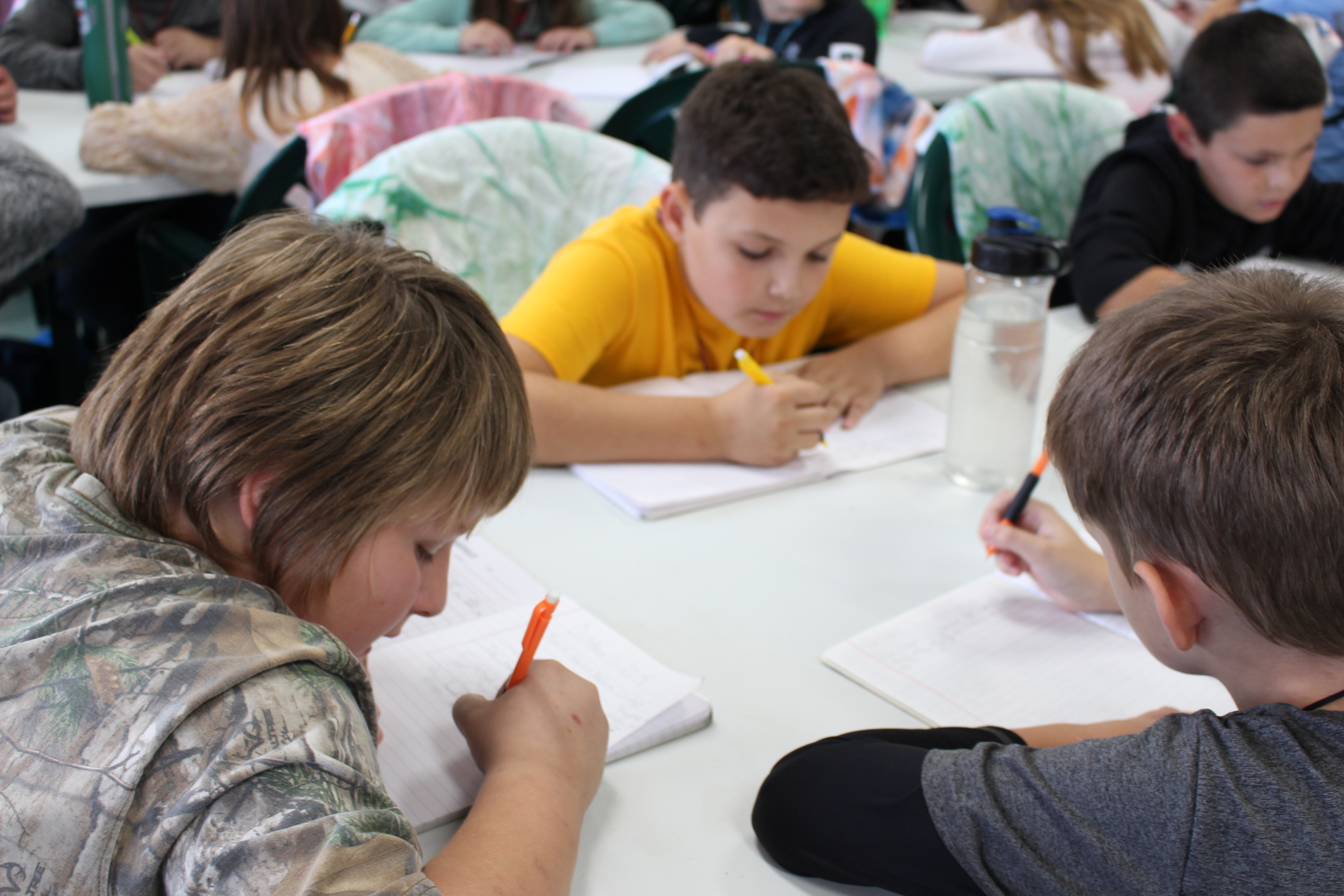 During camp, SAGES' 4th-6th graders paused to reflect in their Field Journals.